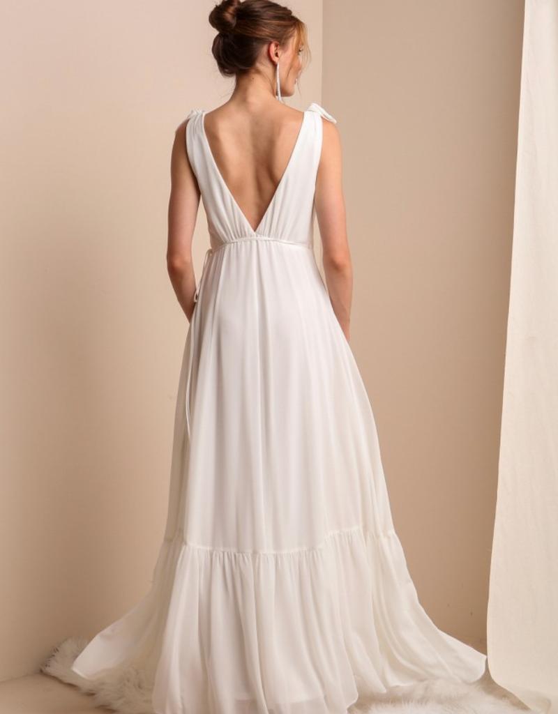 Soieblu Lila Maxi Wrap Dress - Ivory