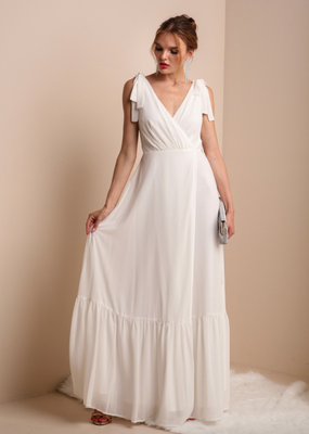 Soieblu Lila Maxi Wrap Dress - Ivory
