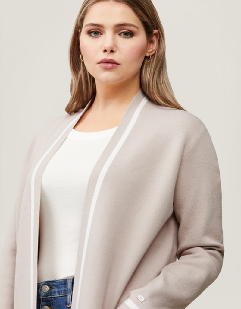 Soia and Kyo Denise Long Cardigan in Pearl