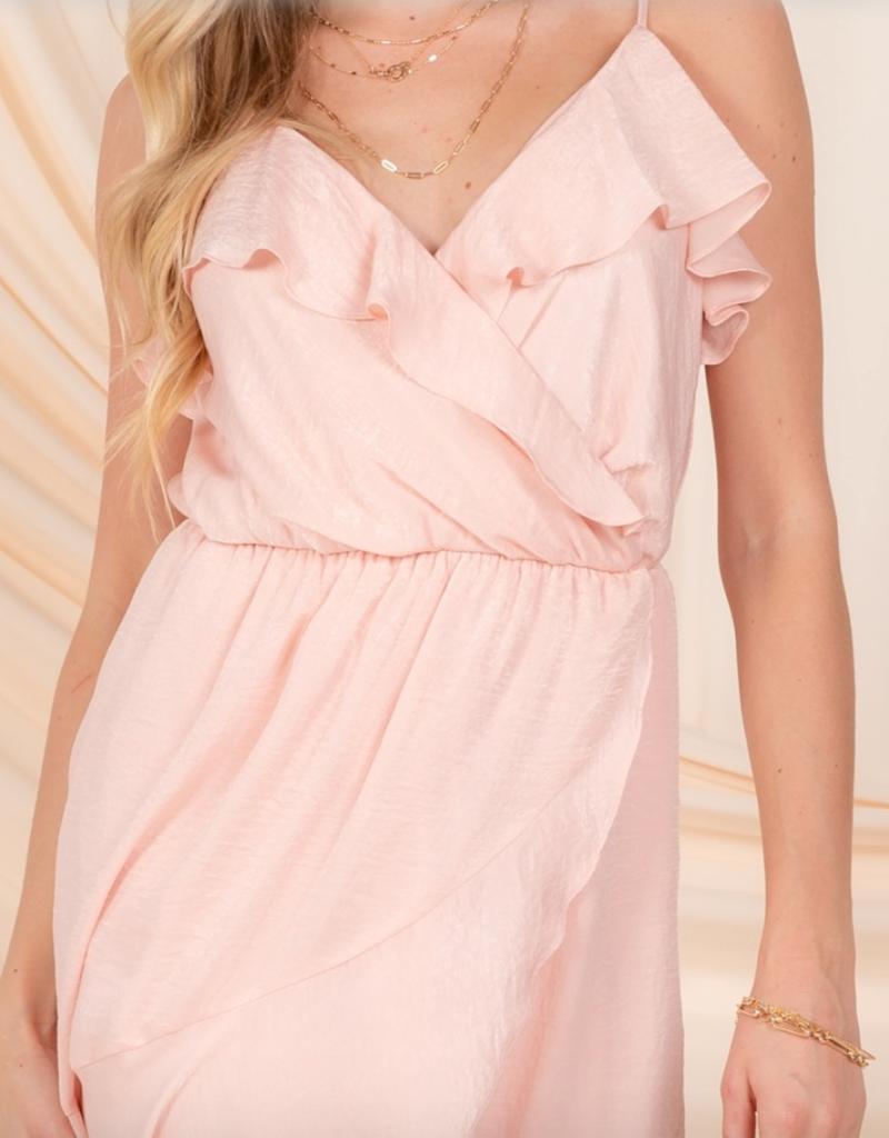 Everly Tessa Satin Midi Dress