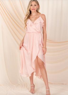 Everly Tessa Satin Midi Dress *Two Colours*