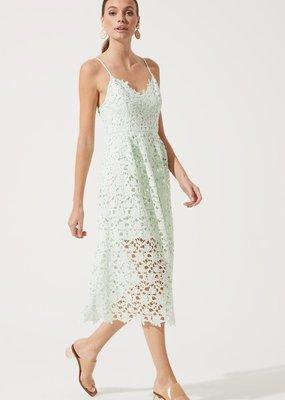 ASTR Kenna Lace Midi Dress in Mint