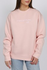 Brunette the Label All You Need Classic Crew Sweatshirt - Cotton Candy Pink