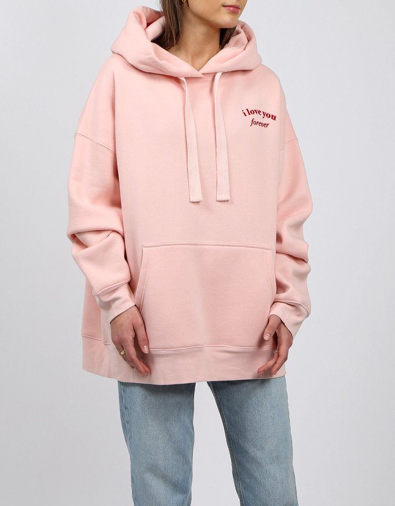 Brunette the Label I Love You Big Sister Hoodie - Cotton Candy Pink