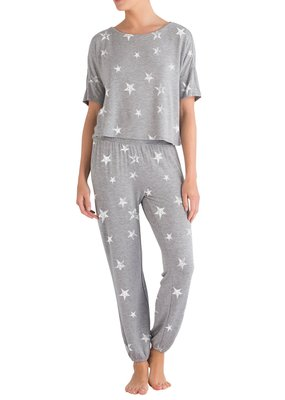 Honeydew Sun Lover Lounge Set - Grey with White Stars