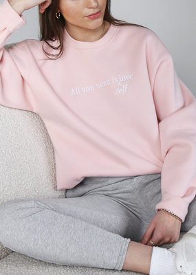 Brunette the Label Brunette the Label - All You Need is Self Love Classic Crew Sweatshirt