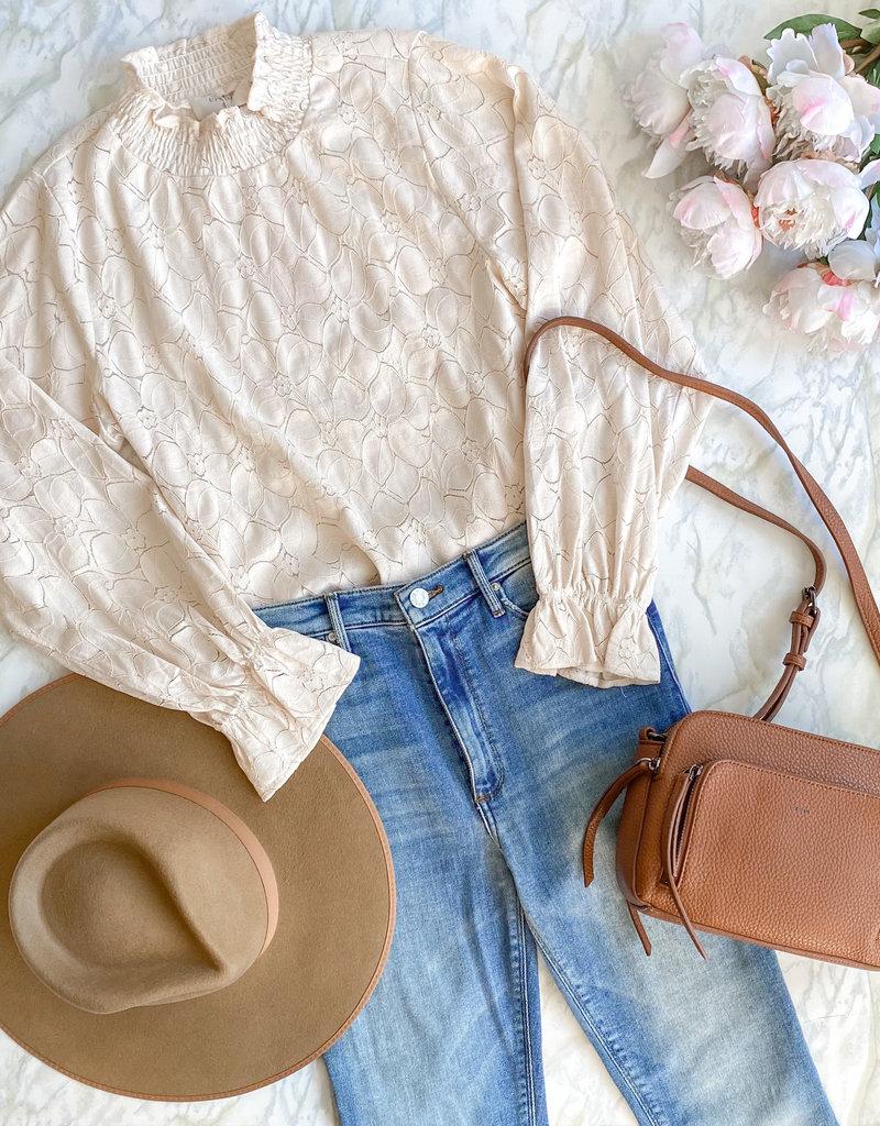 Cream Lacia Blouse