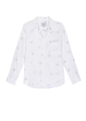 Rails Charli Button Down in Tie Dye Stars