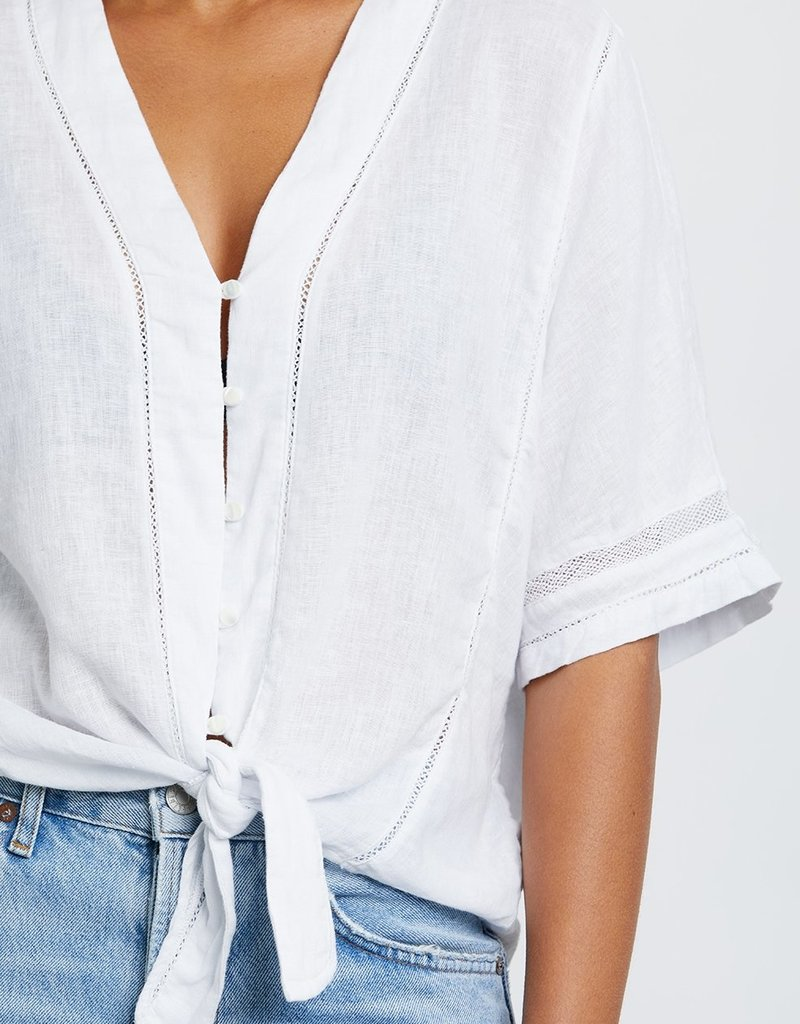 Rails Thea Tie Front Top in White
