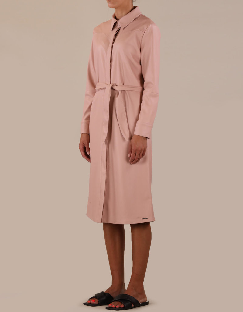 Rino and Pelle Sandon Faux Leather Blouse Dress