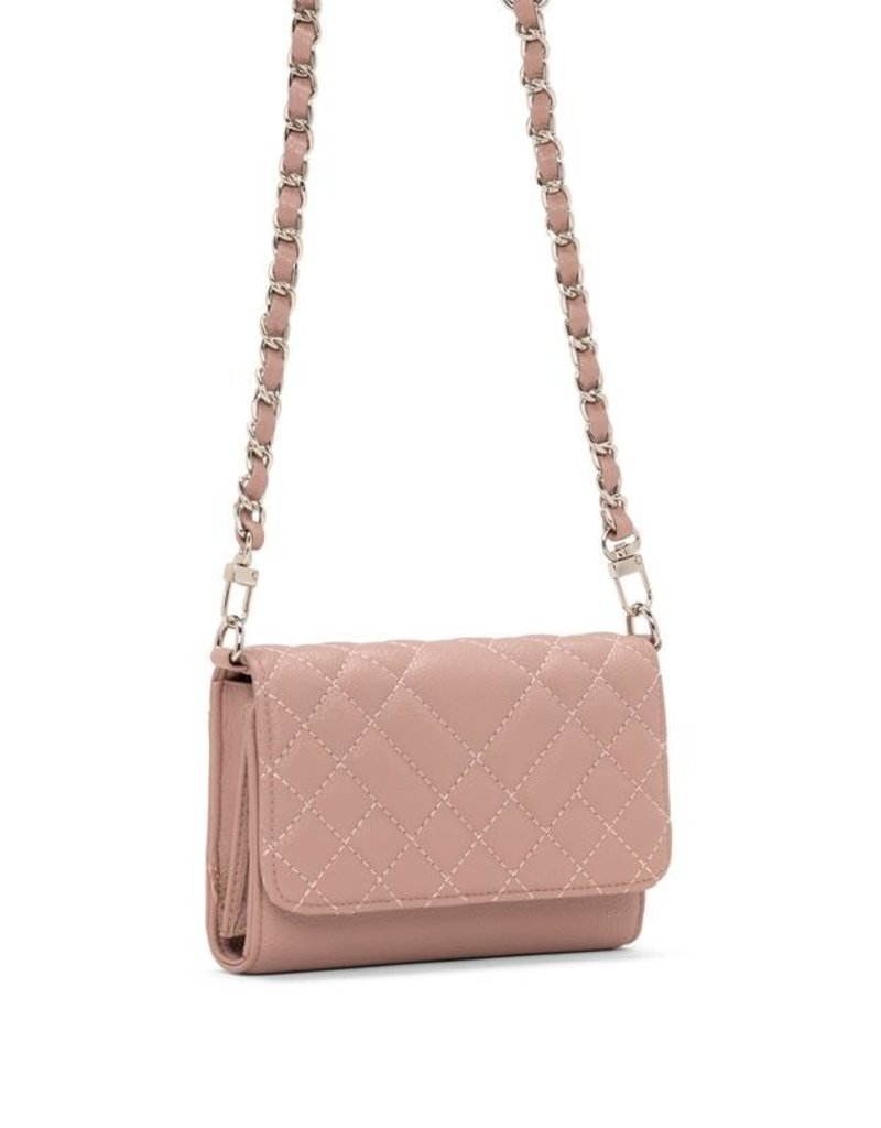 Colab Sadie Quilted Crossbody - Dusty Pink