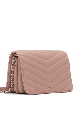 Colab Bella Quilted Crossbody - Dusty Pink