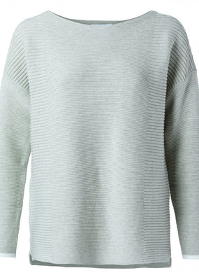 Yaya Yara Ribbed Pullover in Pale Mint