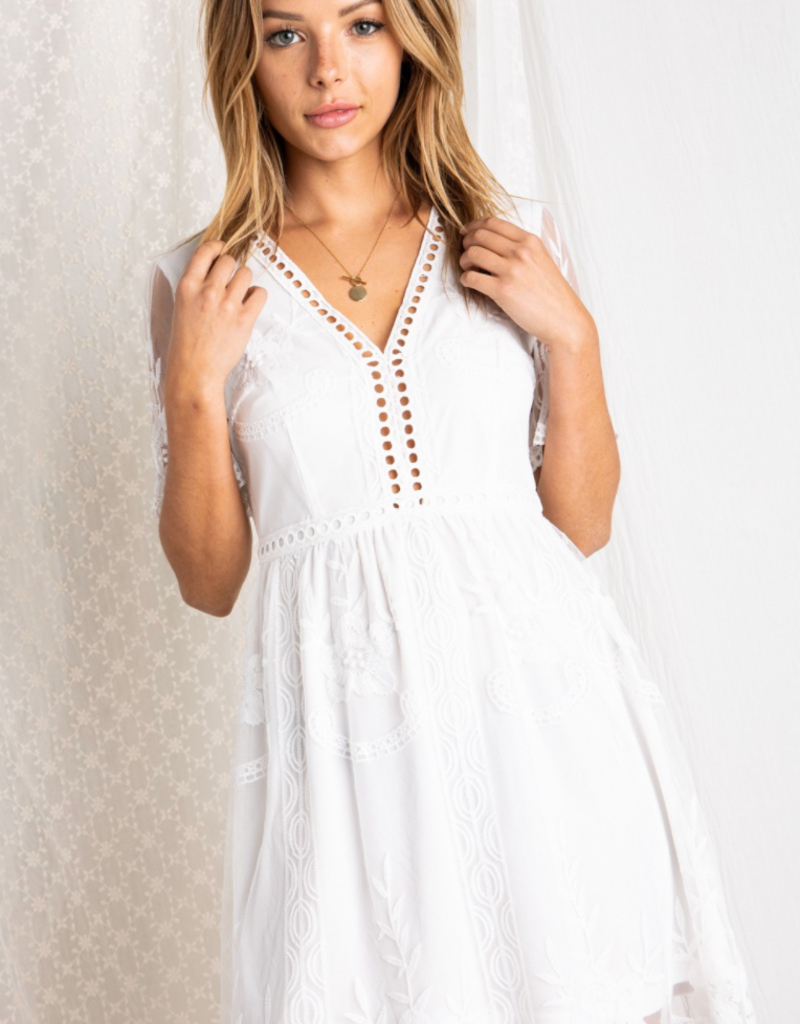Baevely Evelyn Lace Trimmed Dress