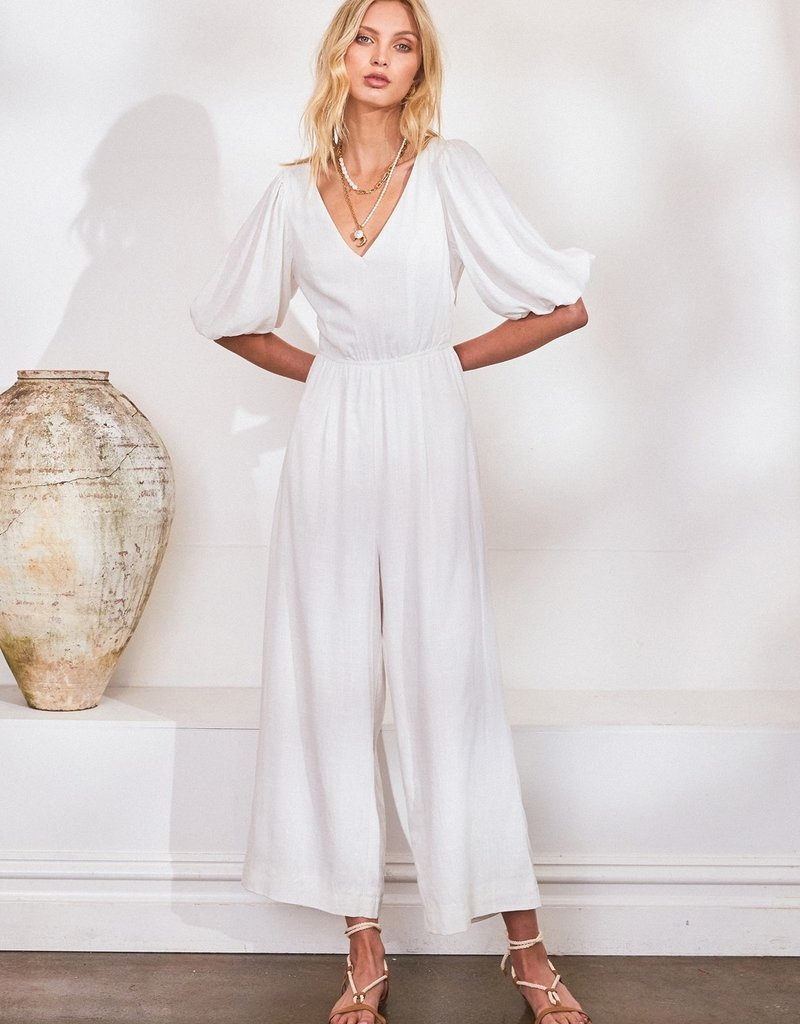 Lost in Lunar Lucina Jumpsuit in White