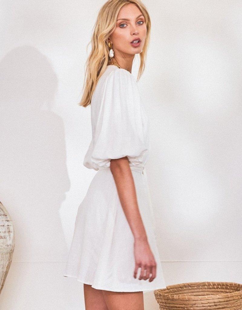 Lost in Lunar Aleesa Dress in White