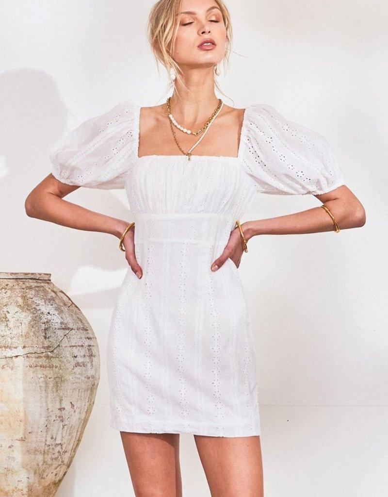 Lost in Lunar Greta Dress in White