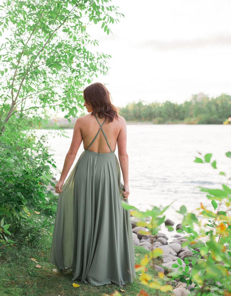 Skylar Belle Payton Maxi Dress - Sage Green