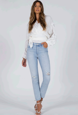 Black Orchid Joan High Rise Straight Jean in Yes, No Maybe Wash