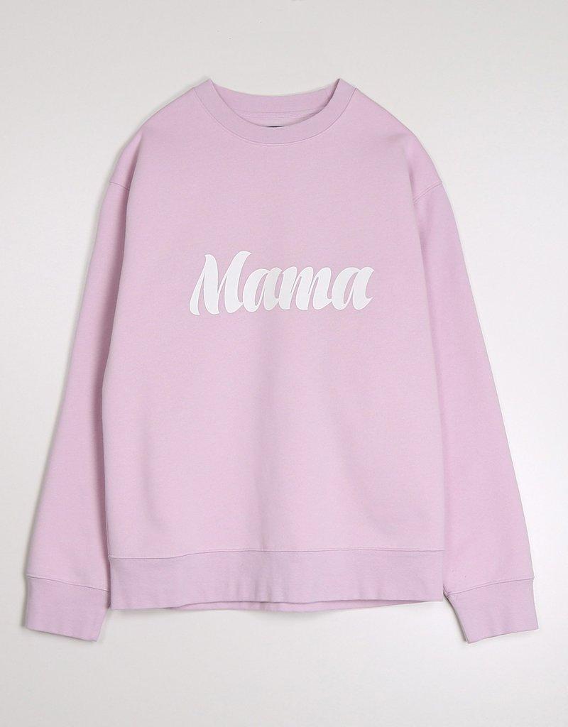 Brunette the Label Mama Cursive Core Crew Sweatshirt