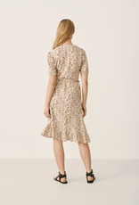 Part Two Claire Dress in Peach Blossom Print
