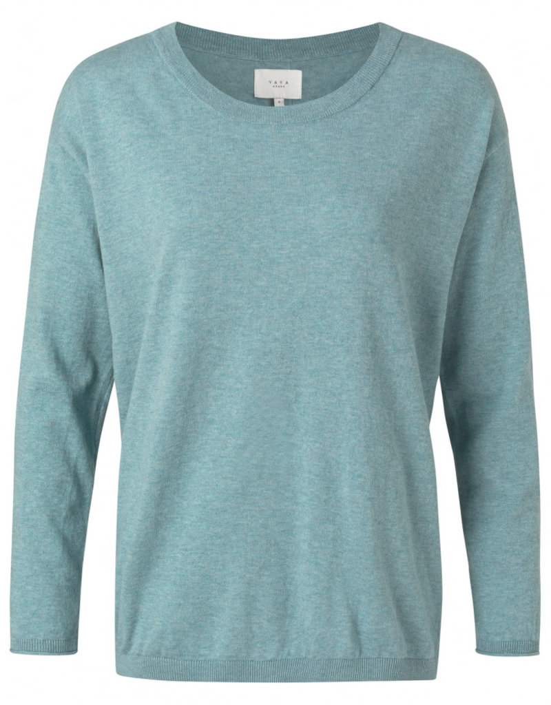 Yaya Dawn Sweater with Back Buttons
