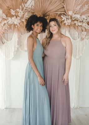 Skylar Belle Payton Maxi Dress - Light Grey/Blue