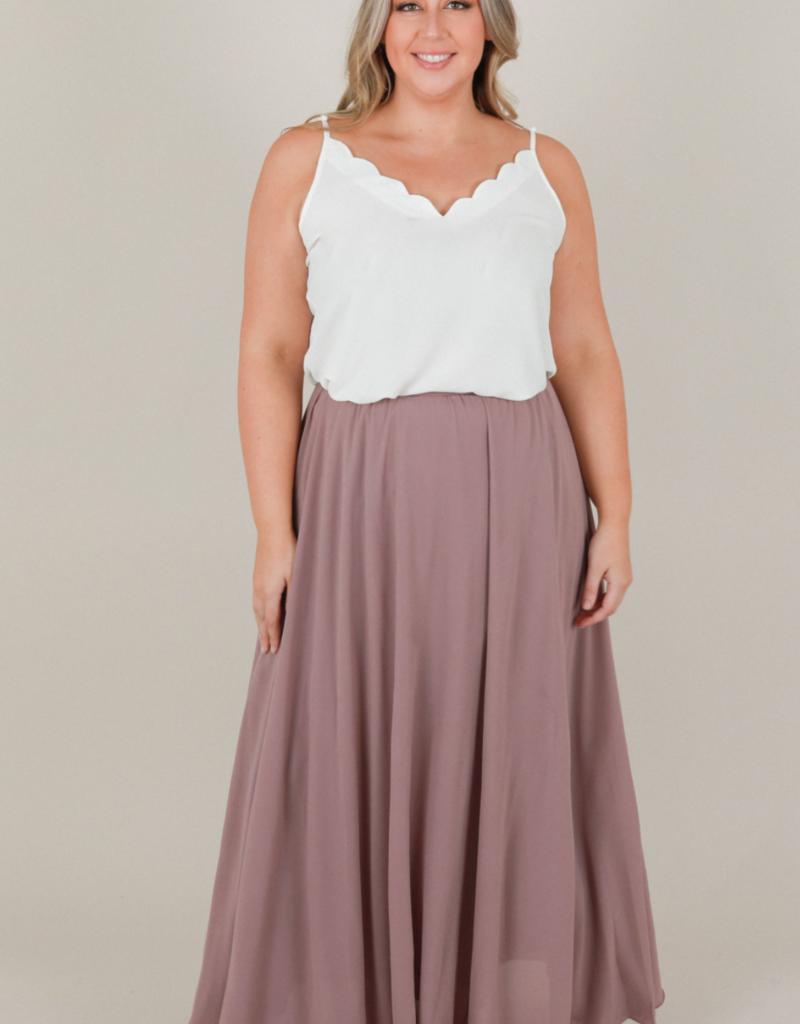 Space46 Kelly Maxi Skirt - Mauve