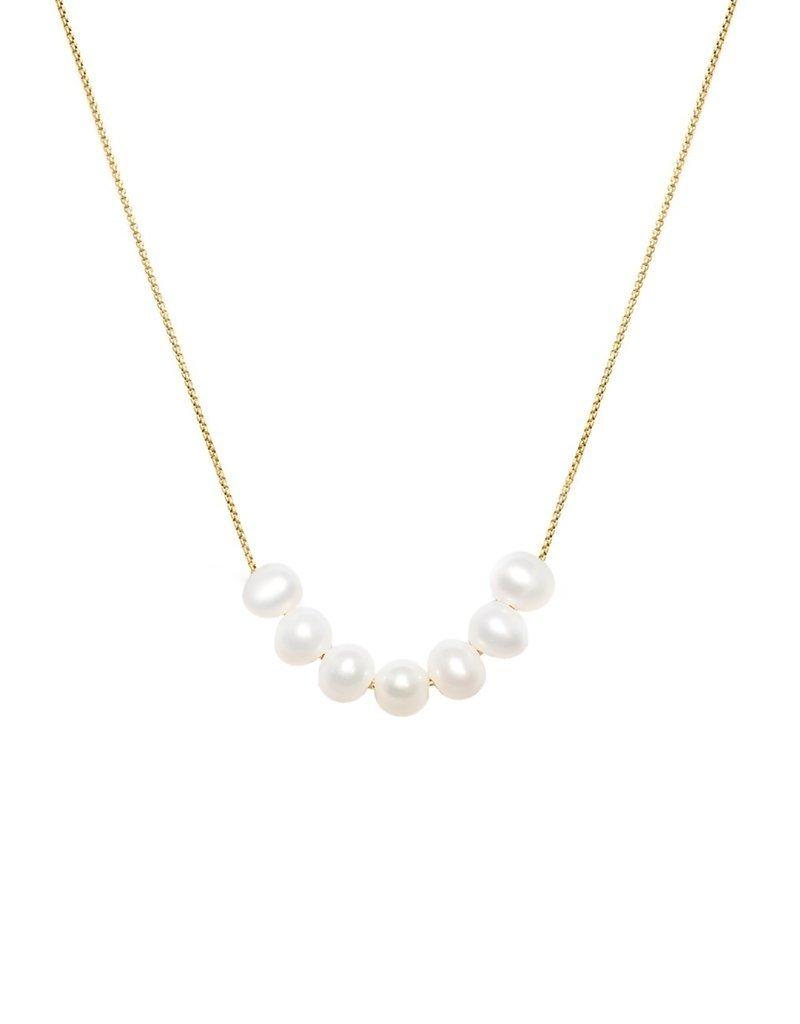 Leah Alexandra Mini Mer Pearl Necklace