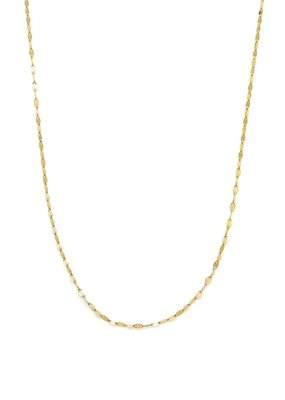 Leah Alexandra Leah Alexandra - Shimmer Chain Necklace in 10k Gold