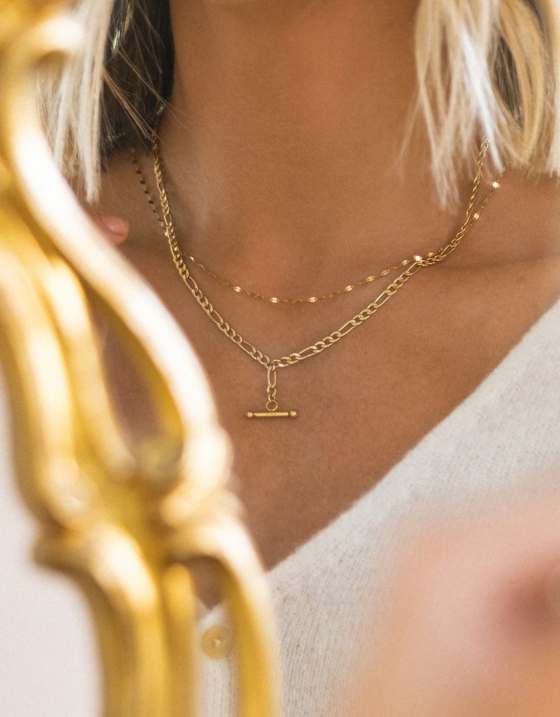 Leah Alexandra Shimmer Chain Necklace - 10k Gold