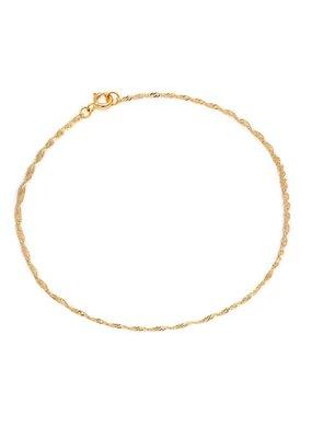 Leah Alexandra Leah Alexandra - Singapore Chain Bracelet - 10k Gold