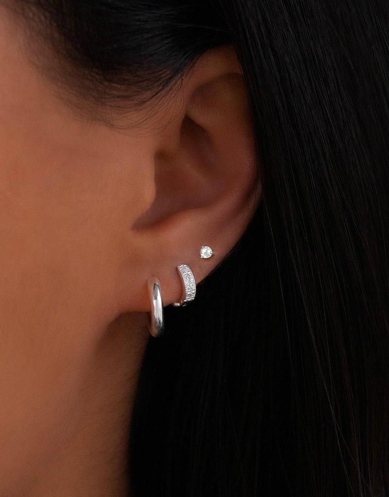 Leah Alexandra Element Studs - Silver/White Topaz