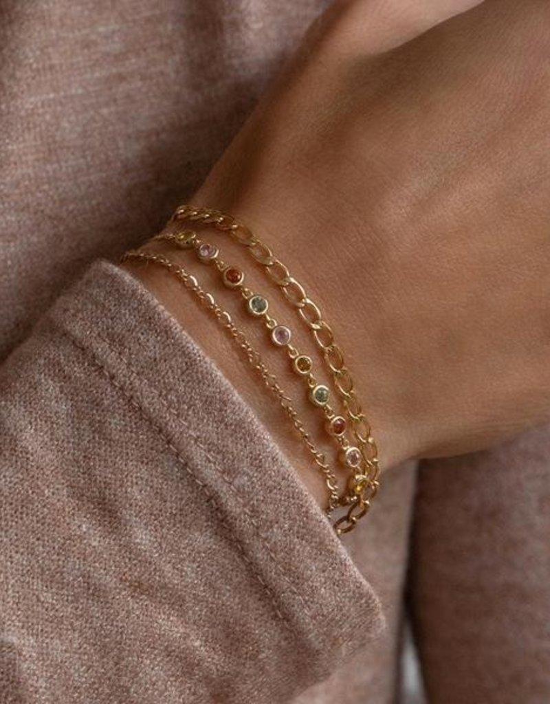 Leah Alexandra Mini Figaro Bracelet - Goldfill
