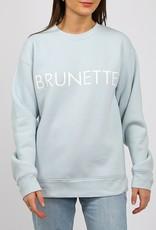 Brunette the Label Brunette Core Crew Sweatshirt in Sky Blue
