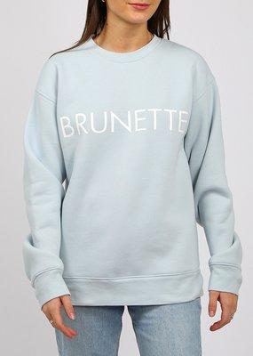 Brunette the Label Brunette the Label - Brunette Sweatshirt in Sky Blue