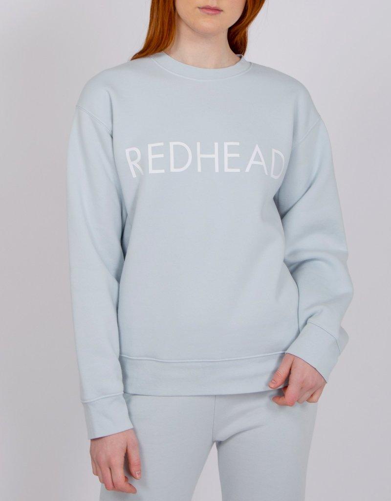 Brunette the Label Redhead Core Crew Sweatshirt in Sky Blue