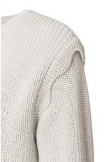 Yaya Scalloped Edge Sweater - Icy Blue White