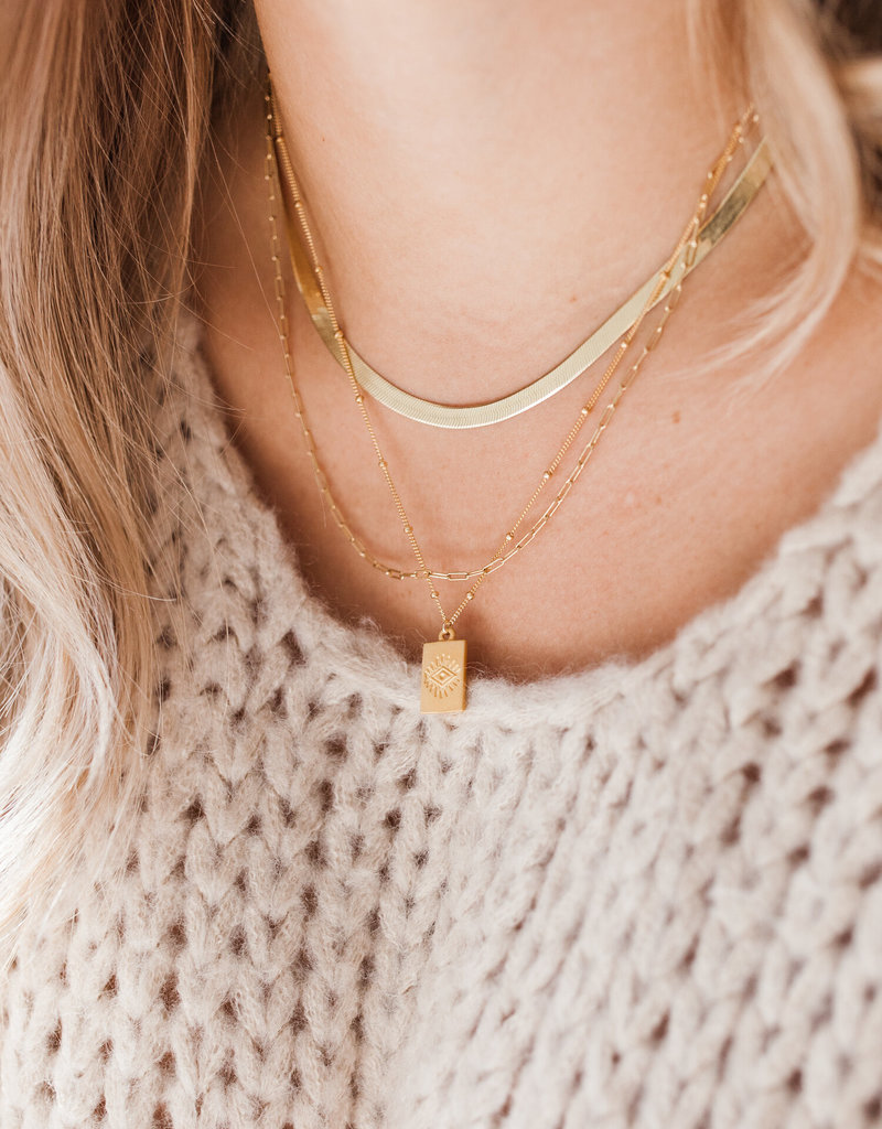 Lavender & Grace Devyn Necklace - Gold