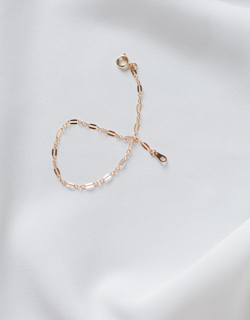 "Lavender & Grace Bambi Bracelet - Gold  6.75"""