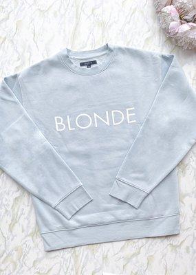 Brunette the Label Brunette the Label - Blonde Sweatshirt in Sky Blue