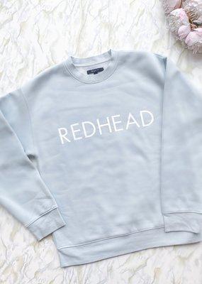 Brunette the Label Brunette the Label - Redhead Sweatshirt in Sky Blue