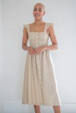Privilege Lucy Linen Button Up Midi