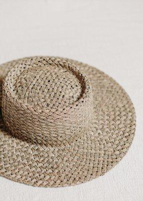 WEST VON West Von - Clara Seagrass Telescope Boater Hat