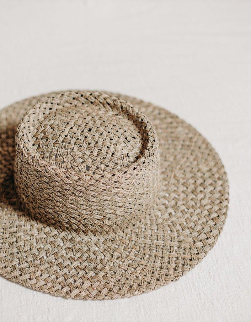 WEST VON Clara Seagrass Telescope Boater Hat