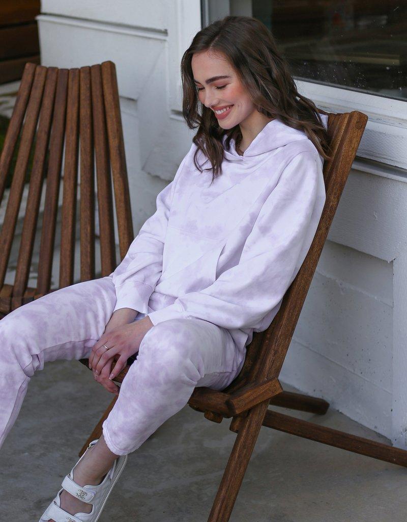 Brunette the Label Best Friends Hoodie - Cloud Lavender Tie Dye