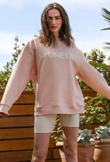 Brunette the Label Brunette Core Crew Sweatshirt - Peach Cream