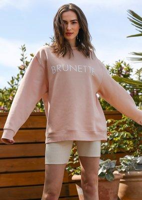 Brunette the Label Brunette the Label - Brunette Sweatshirt in Peach Cream