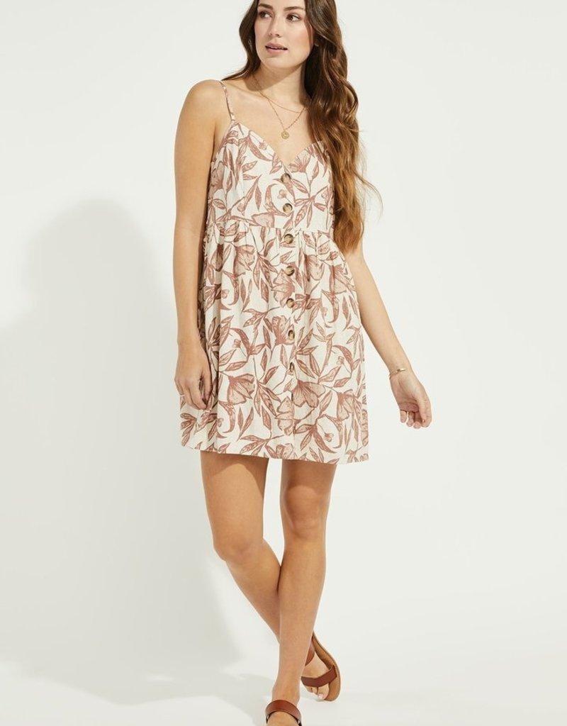 Gentle Fawn Palm Mini Dress