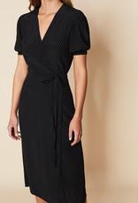 Faithfull Sumaia Wrap Midi Dress - Black dot